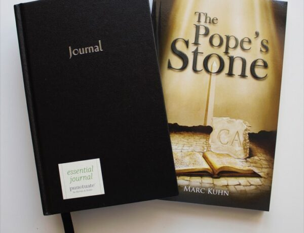 The Pope's Stone book/journal giveaway winners!