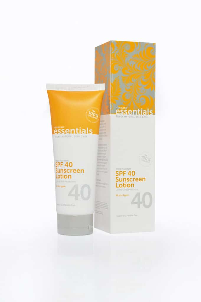 All-natural SPF 40 sunscreen from Herbline Essentials!