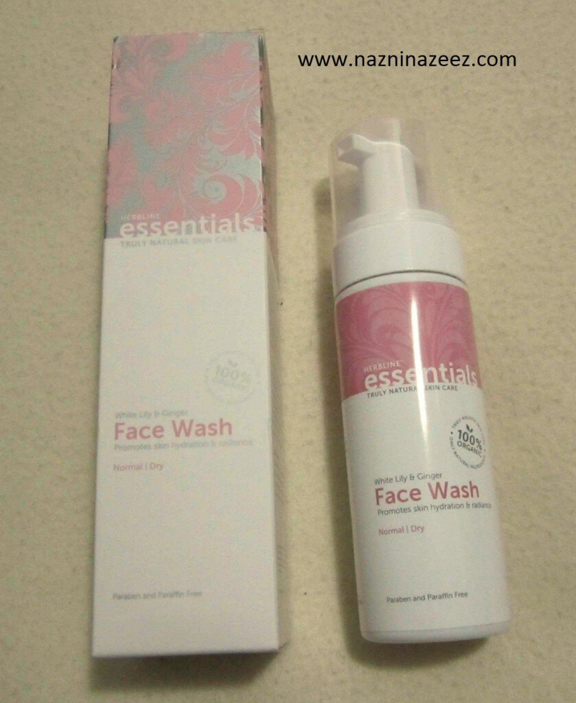 Review : White Lily & Ginger Foam face wash by Herbline Essentials!
