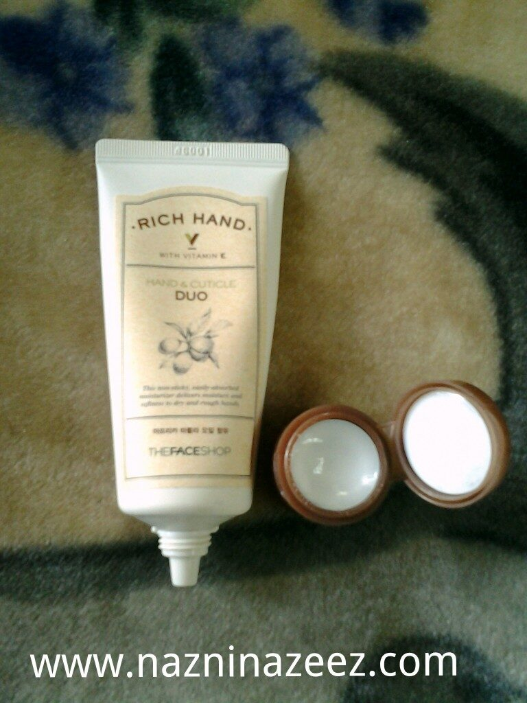 Review : Rich Hand & Cuticle Duo from The Face Shop!