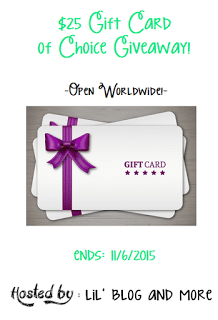 Giveaway : $25 Gift Card to any store or PayPal cash! (Open worldwide)