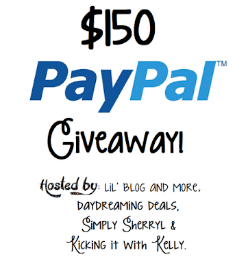 Giveaway : $150 PayPal cash (Open Worldwide)!
